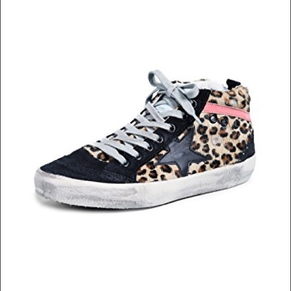 9e9e2212b977 Golden Goose Shoes - Golden Goose Leopard Mid-Star size 40
